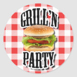 Summer Party Cookout Invite Envelope Stickers