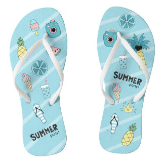Summer Party! Fun Beach theme Flip Flops