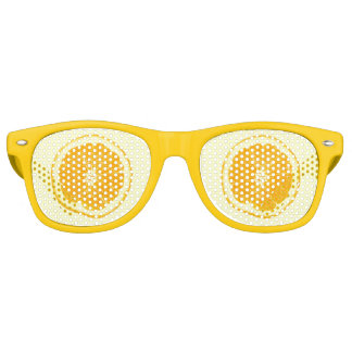 Summer Party Orange Citrus Fruit Slice Retro Sunglasses