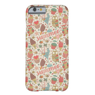 Summer Pattern With Ice Cream Barely There iPhone 6 Case