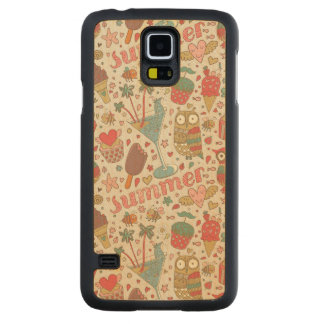 Summer Pattern With Ice Cream Carved Maple Galaxy S5 Case