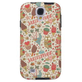 Summer Pattern With Ice Cream Galaxy S4 Case
