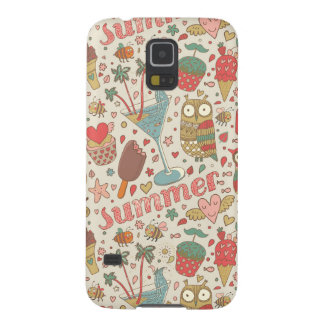 Summer Pattern With Ice Cream Galaxy S5 Case
