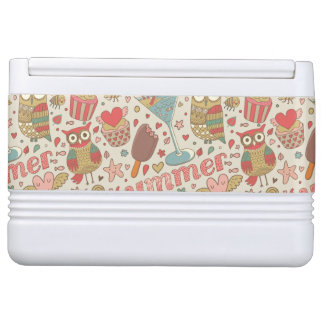 Summer Pattern With Ice Cream Igloo Cooler