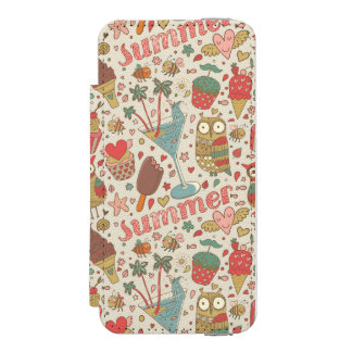 Summer Pattern With Ice Cream Incipio Watson™ iPhone 5 Wallet Case