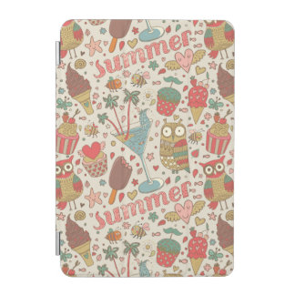 Summer Pattern With Ice Cream iPad Mini Cover
