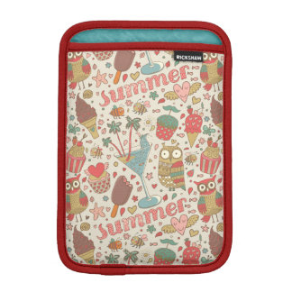 Summer Pattern With Ice Cream iPad Mini Sleeve