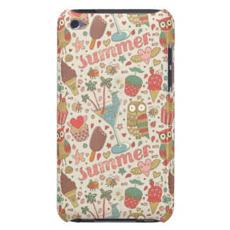 Summer Pattern With Ice Cream iPod Touch Cover