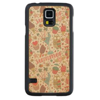 Summer Pattern With Ice Cream Maple Galaxy S5 Case