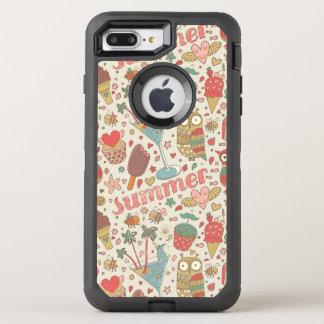 Summer Pattern With Ice Cream OtterBox Defender iPhone 8 Plus/7 Plus Case
