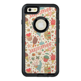 Summer Pattern With Ice Cream OtterBox Defender iPhone Case