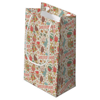 Summer Pattern With Ice Cream Small Gift Bag