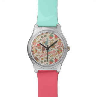 Summer Pattern With Ice Cream Watch