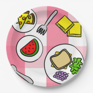 Summer Picnic 9 Inch Paper Plate