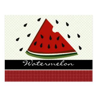 Summer Picnic Juicy Red Watermelon Art Postcard