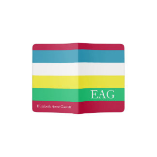 Summer Picnic Palette Stripe Monogram Passport Holder
