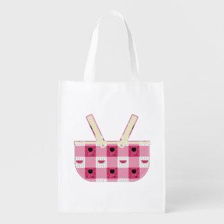 Summer Picnic Reusable Grocery Bag