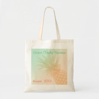 Summer Pineapple Personalised Tote Bag