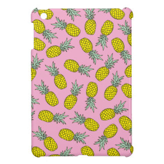 Summer pink pineapple fruit illustration pattern case for the iPad mini