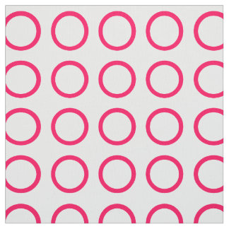 Summer Pink Rings on White Fabric