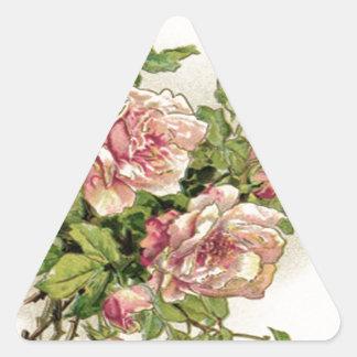 Summer Pinkish Rose Triangle Sticker