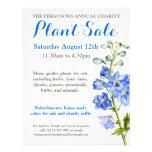 Summer plant sale delphinium art promo flyer