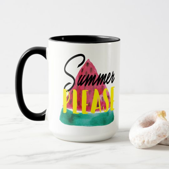 SUMMER PLEASE WATER MELON MUG