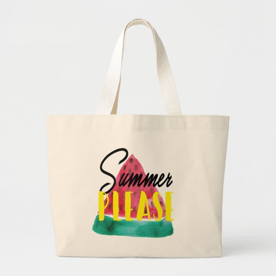 SUMMER PLEASE WATERMELON TOTE