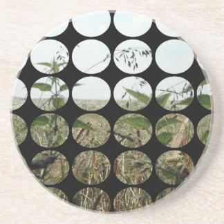 Summer Polka Dots Fields Skies Beverage Coasters