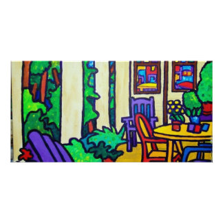 Summer Porch by Piliero Photo Card