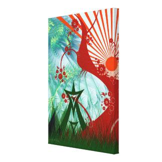 Summer Psytrance Festival Art Stretched Canvas Print