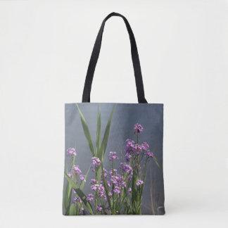 Summer Purple Phlox flowers tote bag