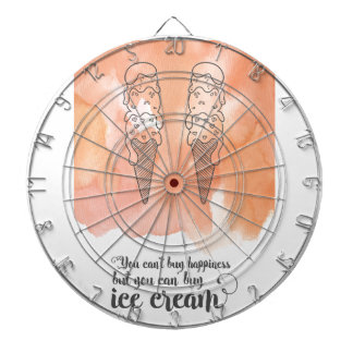 Summer quote for any ice cream fan dartboard