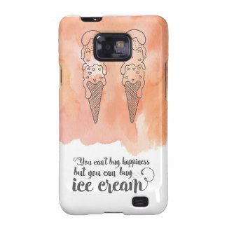 Summer quote for any ice cream fan galaxy SII cover