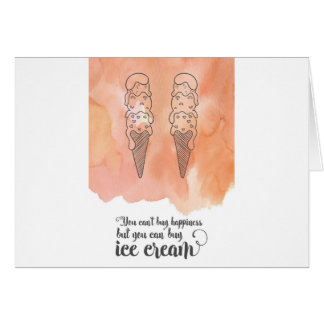 Summer quote for any ice cream fan greeting card