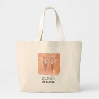 Summer quote for any ice cream fan jumbo tote bag