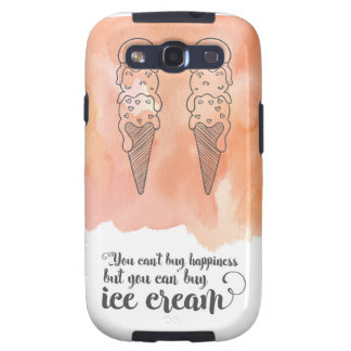 Summer quote for any ice cream fan samsung galaxy s3 cover