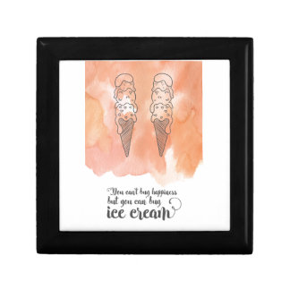 Summer quote for any ice cream fan small square gift box