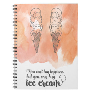 Summer quote for any ice cream fan spiral note books