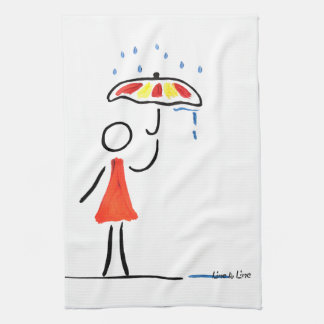 summer rain hand towel