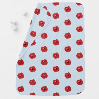 Summer Red Hibiscus Baby Blanket