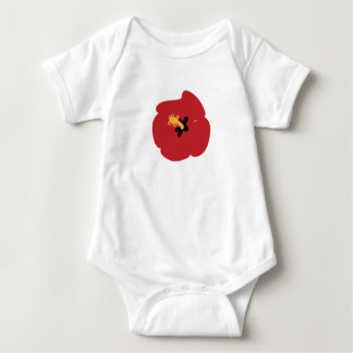 Summer Red Hibiscus Baby Bodysuit