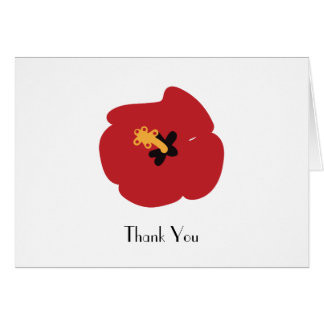 Summer Red Hibiscus Card