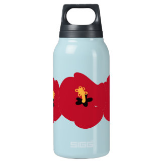 Summer Red Hibiscus Insulated Water Bottle