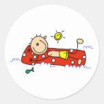 Summer Relaxation Round Sticker