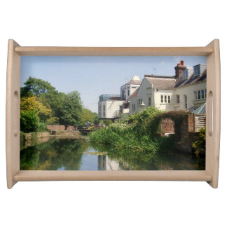 Summer River and Clouds Scenery Serving Tray