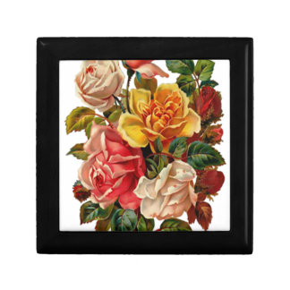 Summer Roses Small Square Gift Box