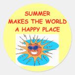 summer round stickers