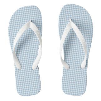 Summer-Sail-Gingham-Blue (c) Unisex_Multi-Styles Flip Flops