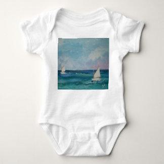 Summer Sailboat Babywear Baby Bodysuit